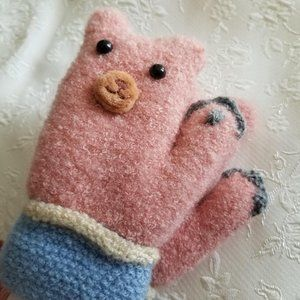 Other - ADD ON for $2: Kids Bear Mittens